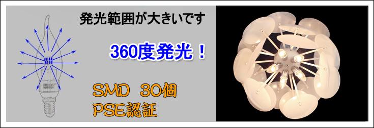 360度発光 回路保護機能