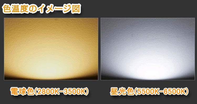 電球色と昼白色の色温度