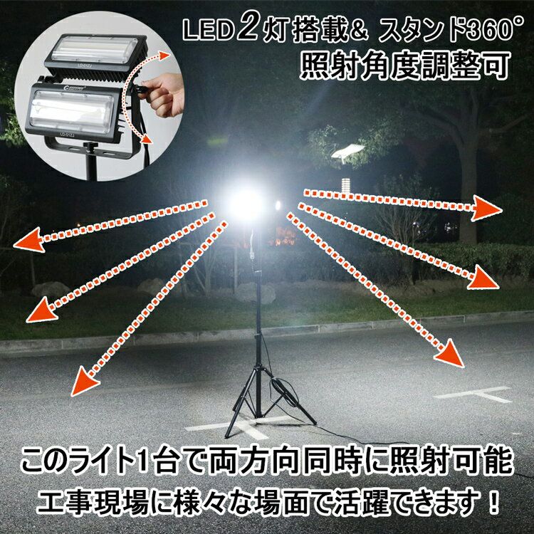 現場工事に向きではなく、看板灯としても使用可能