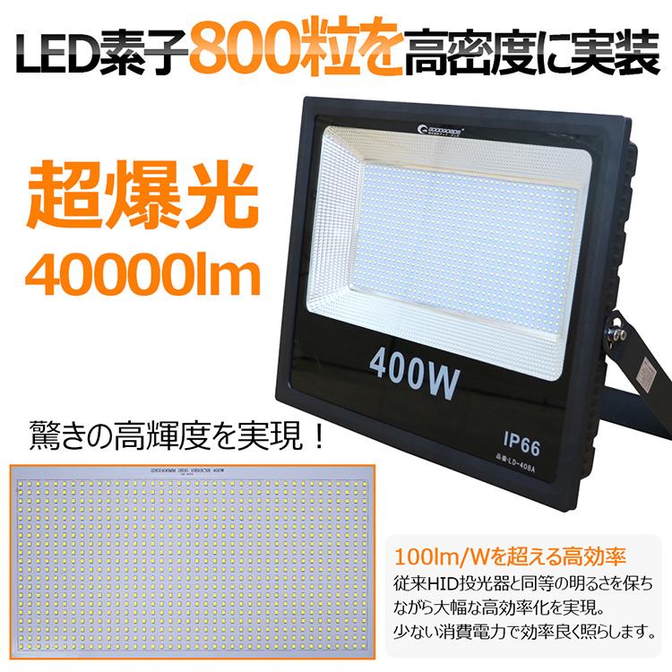 400W 最新型 高輝度 IP66 看板ライト 天井照明 一年保証