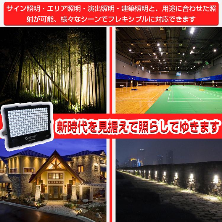 最新型 プロジェクタータイプ 投光器200w 作業灯 ナイター照明 狭角 スポット効果