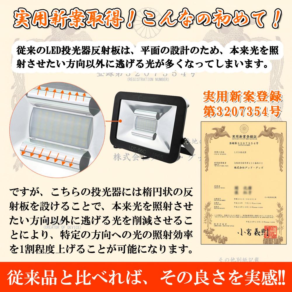 LED作業灯 ワークライト 50W 500W相当 極薄型 6100ルーメン 工事現場 夜間作業 防水 アース線付