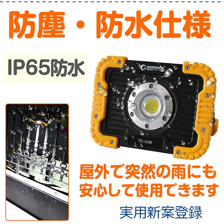 IP65の防水等級!屋外屋内で利用可能!