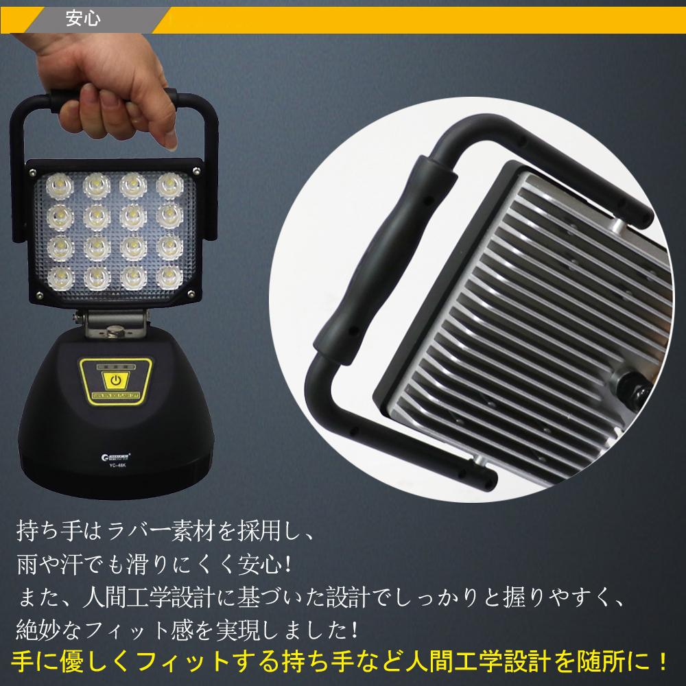 ポータブル作業灯 投光器 マグネット USBポート付き コードレス 4モード