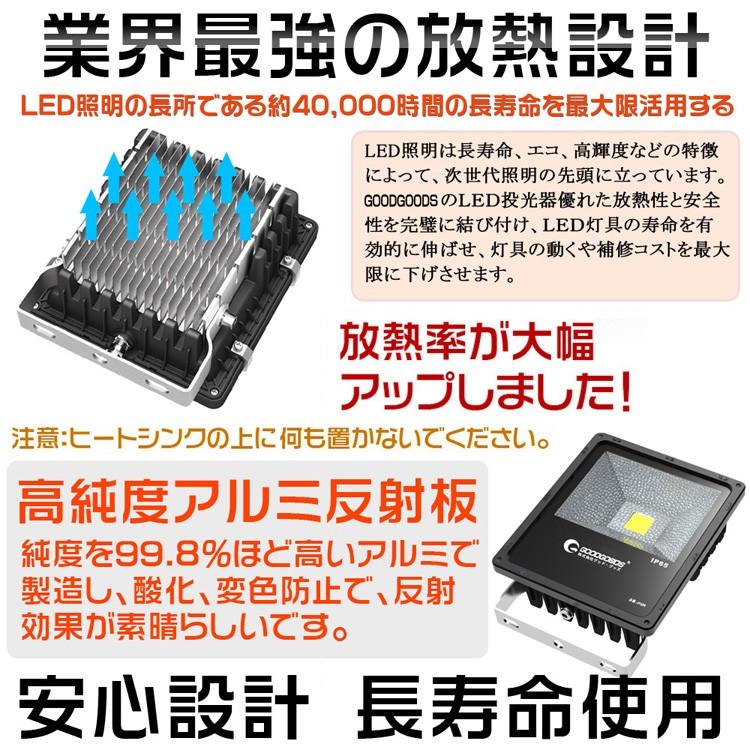 LED投光器・4000LM・昼光色・高輝度・500W相当・AC85V-265V・屋外照明