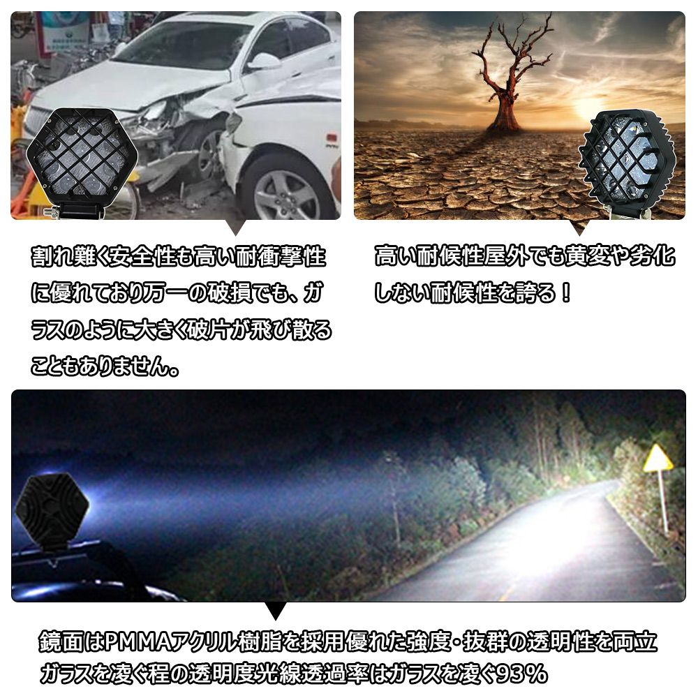 サーチライト 工事現場 建設現場ライト 車載投光器 軽量タイプ 高温対策 ユンボのライト 集光ライト